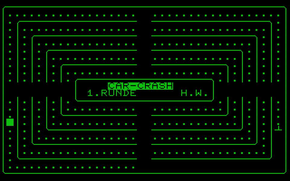 Car-Crash von 1981 für den PET war das erste selbstprogrammierte BASIC-Videospiel von Henrik Wening. (Bild: Henrik Wening)