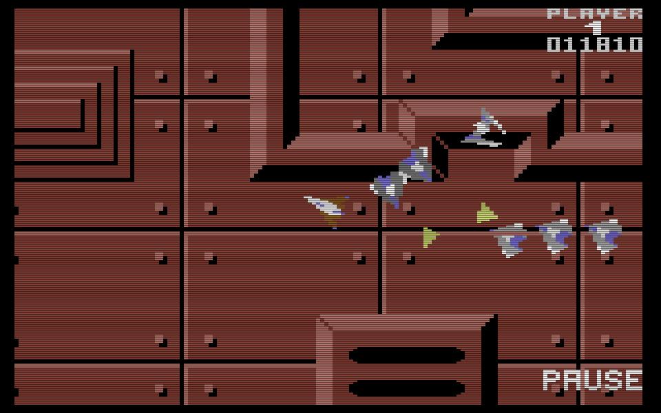 Space Pilot 2 wurde 1985 veröffentlicht und bietet mehr optische Anreize als sein Vorgänger. Alle beweglichen Objekte im Spiel werden durch Sprites dargestellt. (Bild: Kingsoft)