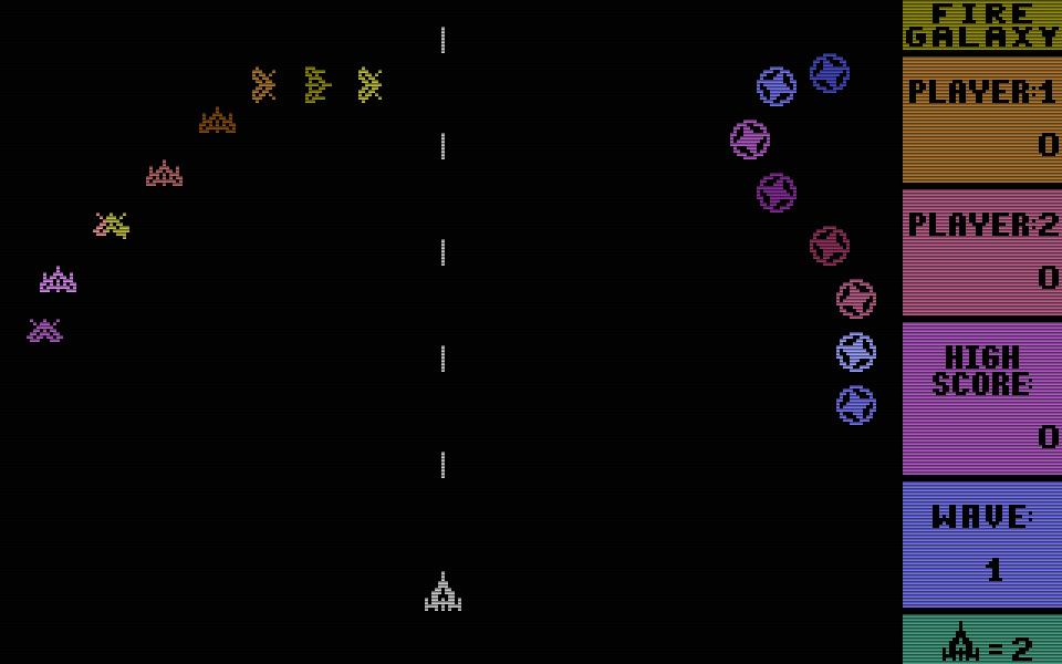 Es brennt in der Galaxis und Kingsoft läßt nichts anbrennen! - textet die Compute mit im Februar 1988 zu Fire Galaxy und lobt das Spiel als einen soliden Shooter, der auf allen C16-Versionen läuft. (Bild: Kingsoft)