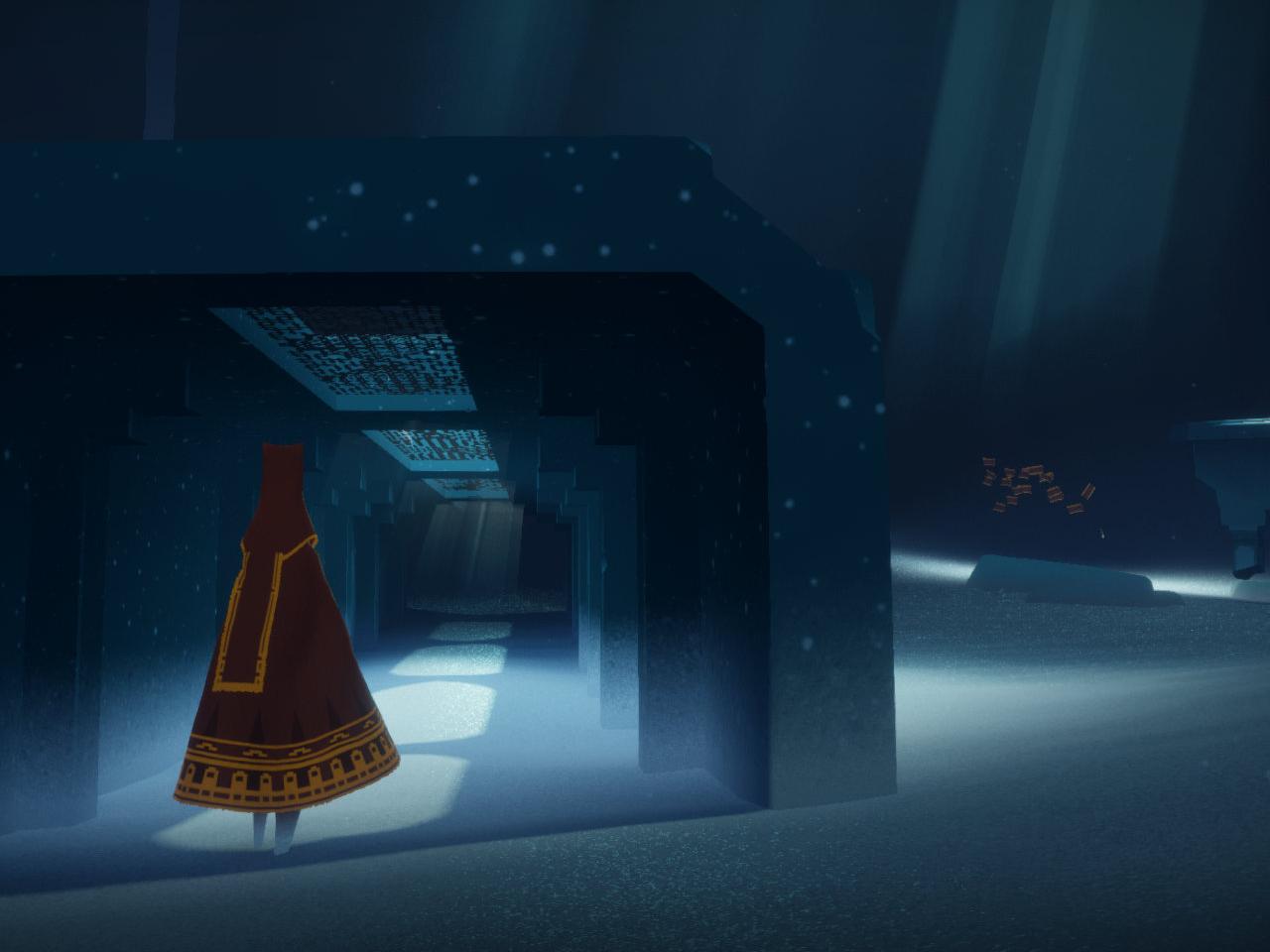 Journey gelingt das Spiel mit Licht und Schatten meisterhaft. (Bild: thatgamecompany)