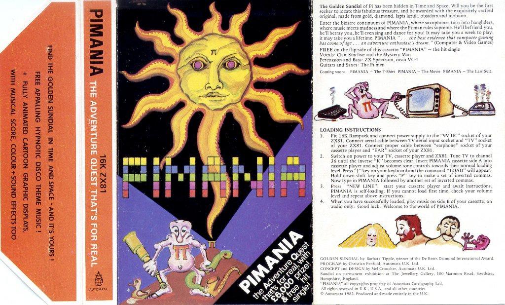 Die Anleitung zu Pimania. Einem Abenteuerspiel von Automata Ldt. für den ZX81. (Bild: Automata Ltd.)