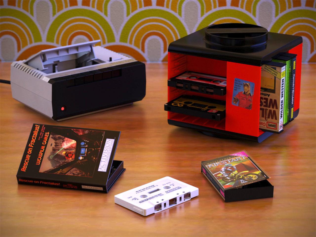 Videospiele auf Kassetten? Ja, das gab es wirklich! (Bild: René Achter, 3DPeek)