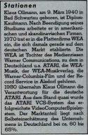 Karriere-Stationen von Klaus Ollmann. (Bild: Marshall Cavendish)