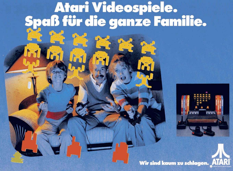 """Atari Werbung mit Space Invaders-Motiv: """"Wir sind kaum zu schlagen"""". (Bild: Atari)"""