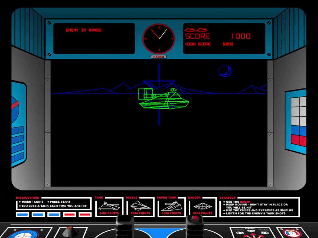 Der Automat Battlezone wurde 1980 von Atari veröffentlicht. (Bild: Atari)