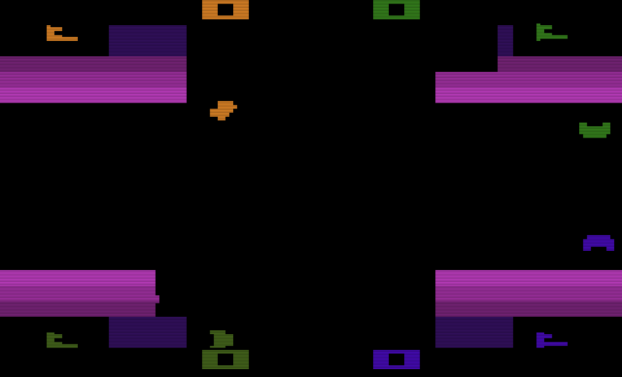Das VCS-Spiel Warlords von Atari: Long Live The King! (Bild: Atari)