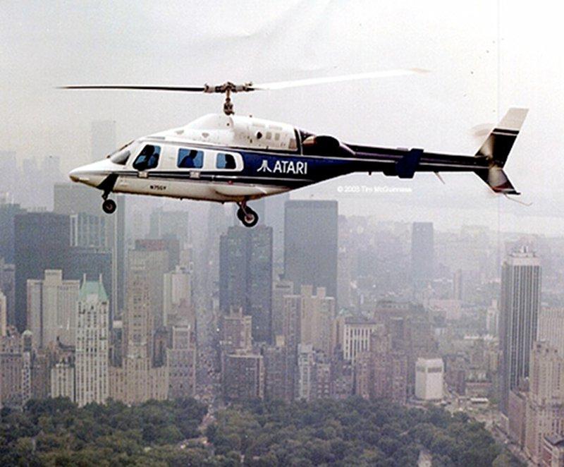 Ein Atari Helicopter über New York. Das Management der Firma wollte zu den Sternen greifen. (Bild: Atari)