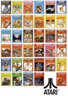 Werbung für Atari-Spiele. Ingesamt wurden ca. 500 Titel (!) für das VCS produziert. (Bild: Atari)