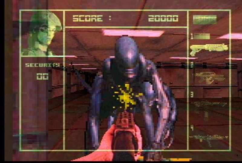 Alien VS. Predator auf einer Atari Jaguar Videospielkonsole von 1994. Das System basierte auf einem Motorola 68000 Prozessor. (Bild: Atari)