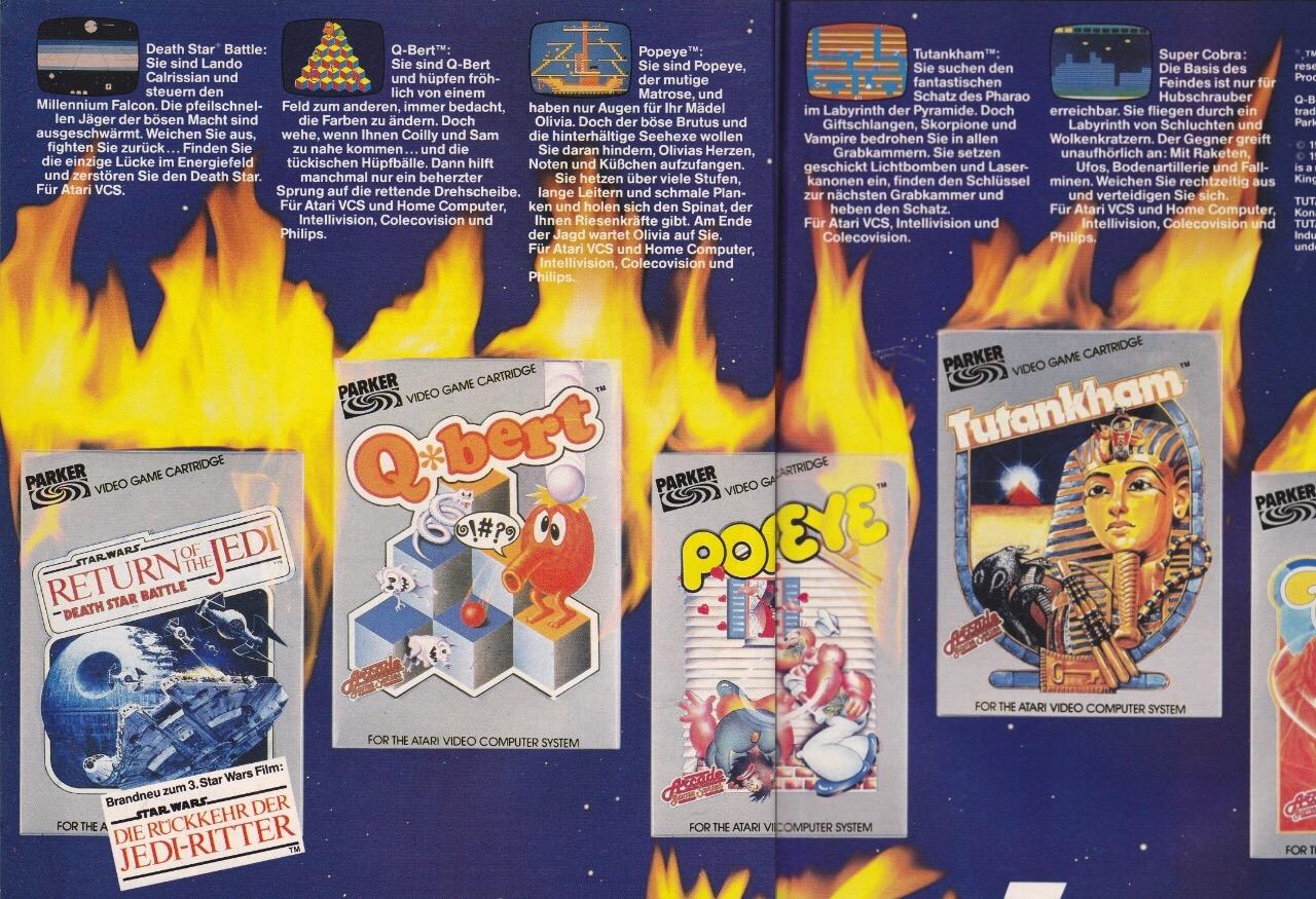 Vor Let's Plays und You Tube brannten noch die Druckwerke: Was war wichtiger? Die neue Spielkassette oder die Ankündigungen. Jede Videospiel-Schachtel war der Hammer. Spannend in der Abbildung die mehrzeilige Beschreibungen der Spielmechanik - als die Grafik besser noch als Thumbnail verweilte...