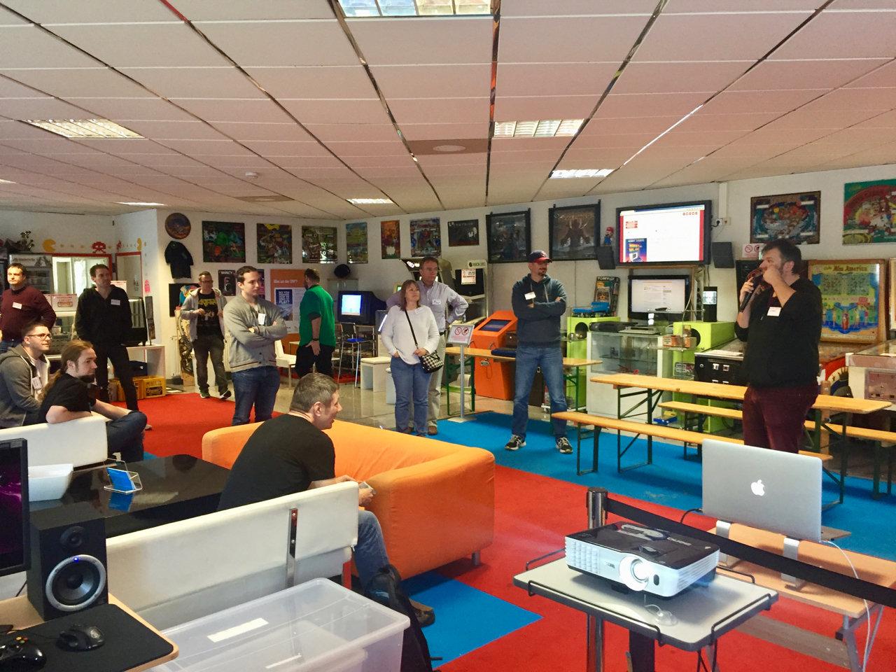 Meet and Blog #vsg17 im Flipper- und Arcademuseum Seligenstadt. (Bild: André Eymann)
