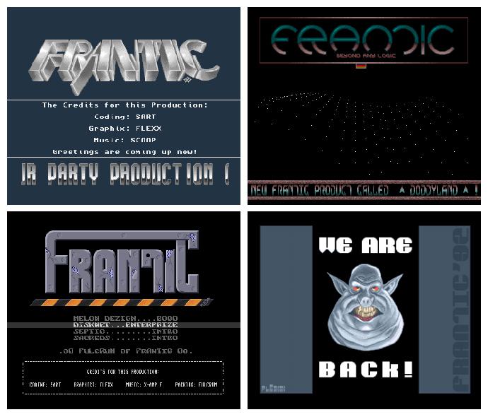 Frantic Amiga Demos aus der ersten Hälfte der 90er Jahre. (Bild: mazeon)