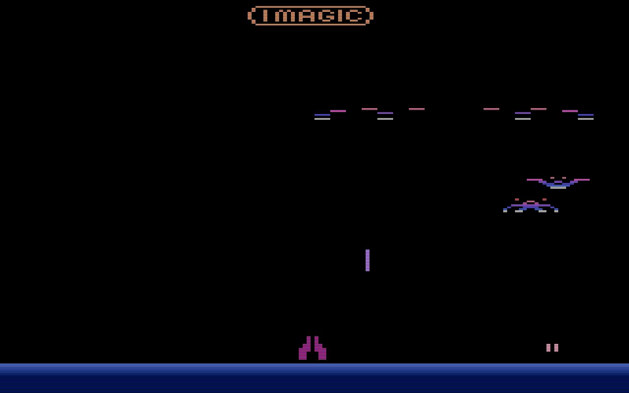 Im Kampf gegen die grausigen Ungeheuer aus dem All auf dem Atari VCS. (Bild: Imagic)