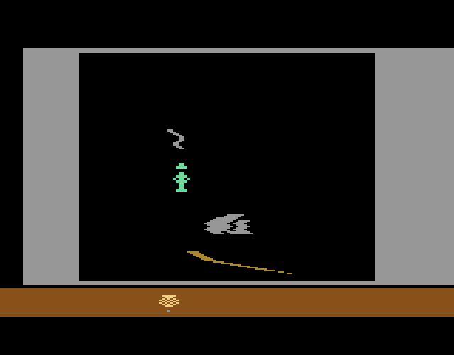 Das Spiel Raiders Of The Lost Ark ist an den Film angelehnt, die Grafik recht simpel. Jedoch beflügelte es alle, die den Film gesehen hatten. (Bild: Atari)