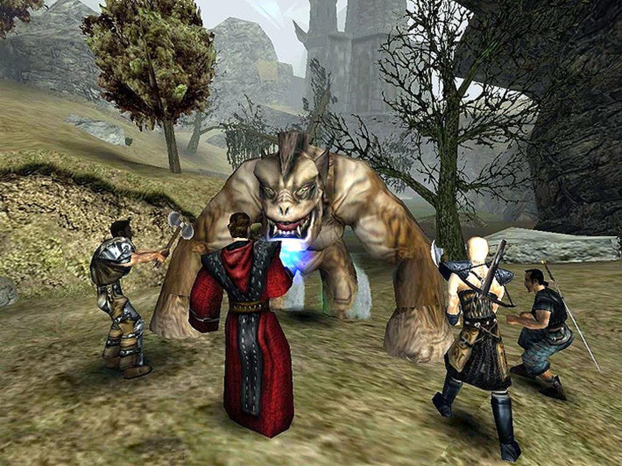Gefährlichere Gebiete im Spiel sind nicht durch künstliche Grenzen abgesteckt - sondern durch riesige Monster wie diesen Troll. (Bild: Piranha Bytes)
