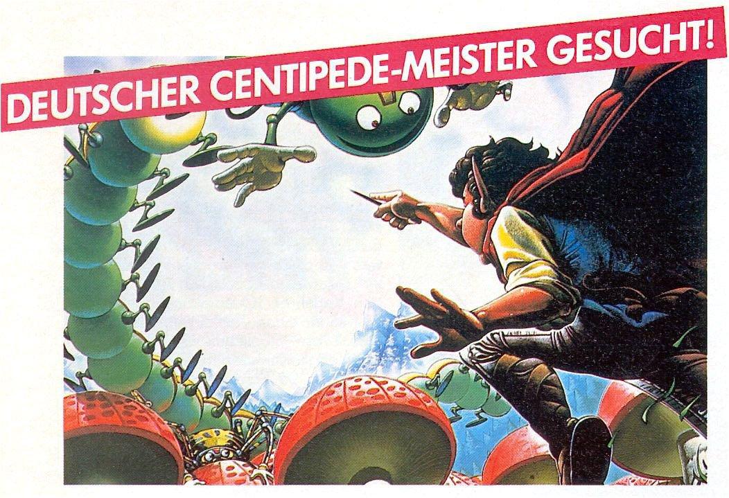 Werbung für die Atari Centipede Weltmeisterschaft 1983. (Bild: Atari)