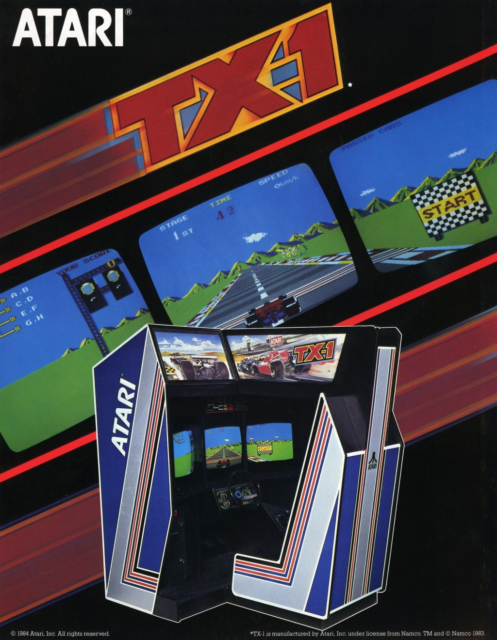 Werbung für TX-1. (Atari, 1984)