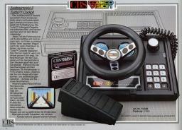 Werbung für das Spiel Turbo von Sega für das Colecovision. (1981)