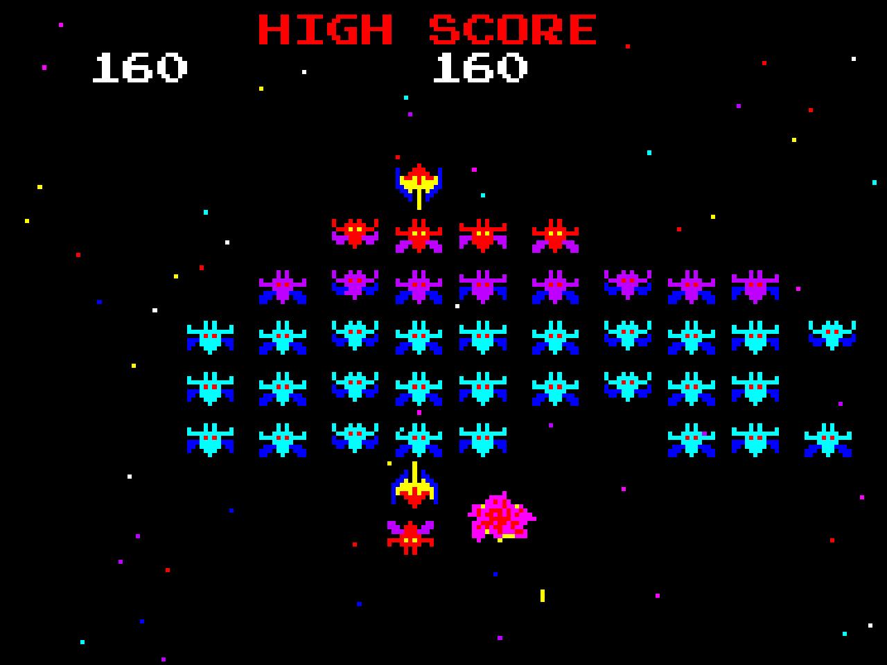 Galaxian ist ein wunderschönes Automatenspiel. (Bild: André Eymann)