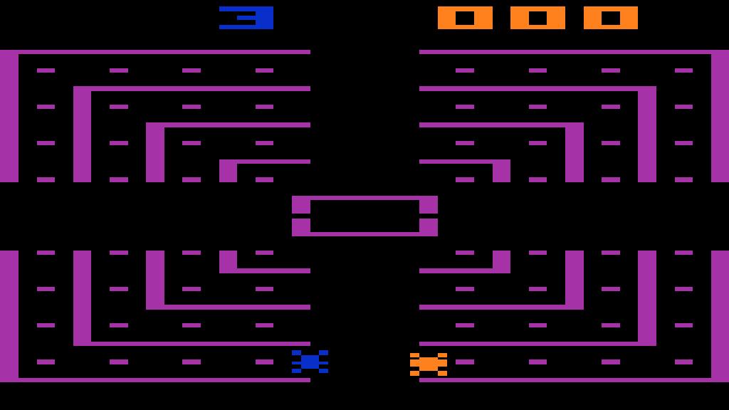 Programmkassette Dodge 'Em für das Atari VCS. (1980)
