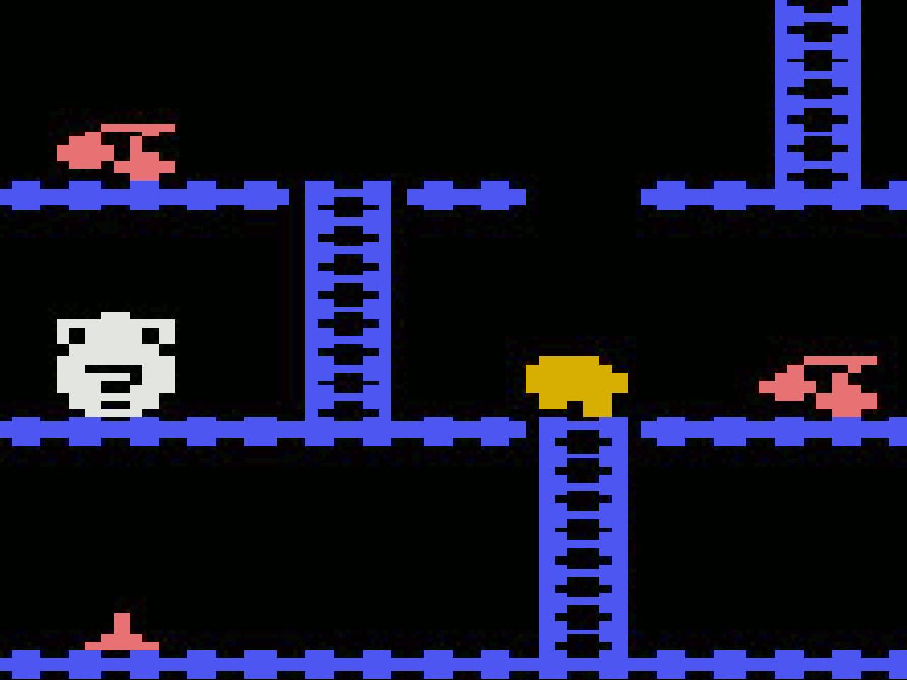 """Ein Plattformer namens """"Gnom"""". Natürlich in BASIC programmiert. (Bild: Yoda Zhang)"""