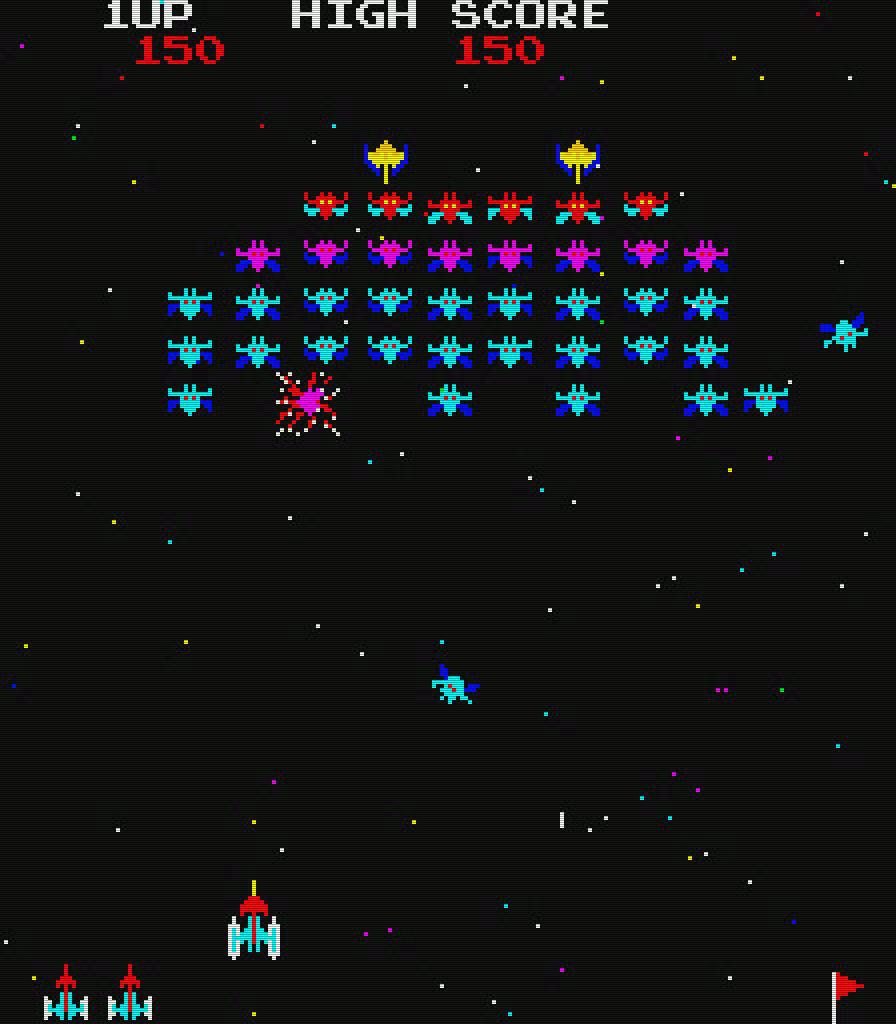Galaxian von Namco für die Spielhalle. Ein beliebter Klassiker. (Bild: Namco)