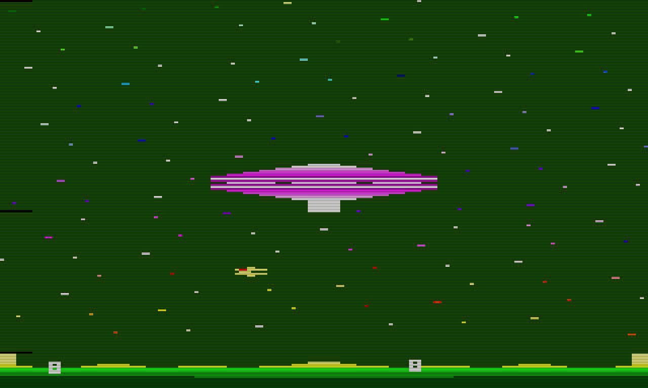Cosmic Arc von Imagic; ebenfalls 1982. Man beachte die attraktiven Streifen links im Bild. (Bild: Imagic)