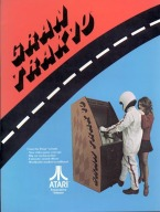 Werbung für Ataris Videospielautomaten Gran Trak 10. (1974)