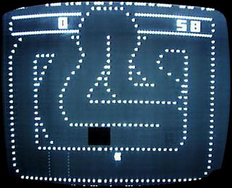 Bildschirmfoto des Videospielautomaten Gran Trak 10 von Atari. (Arkaden, 1974)