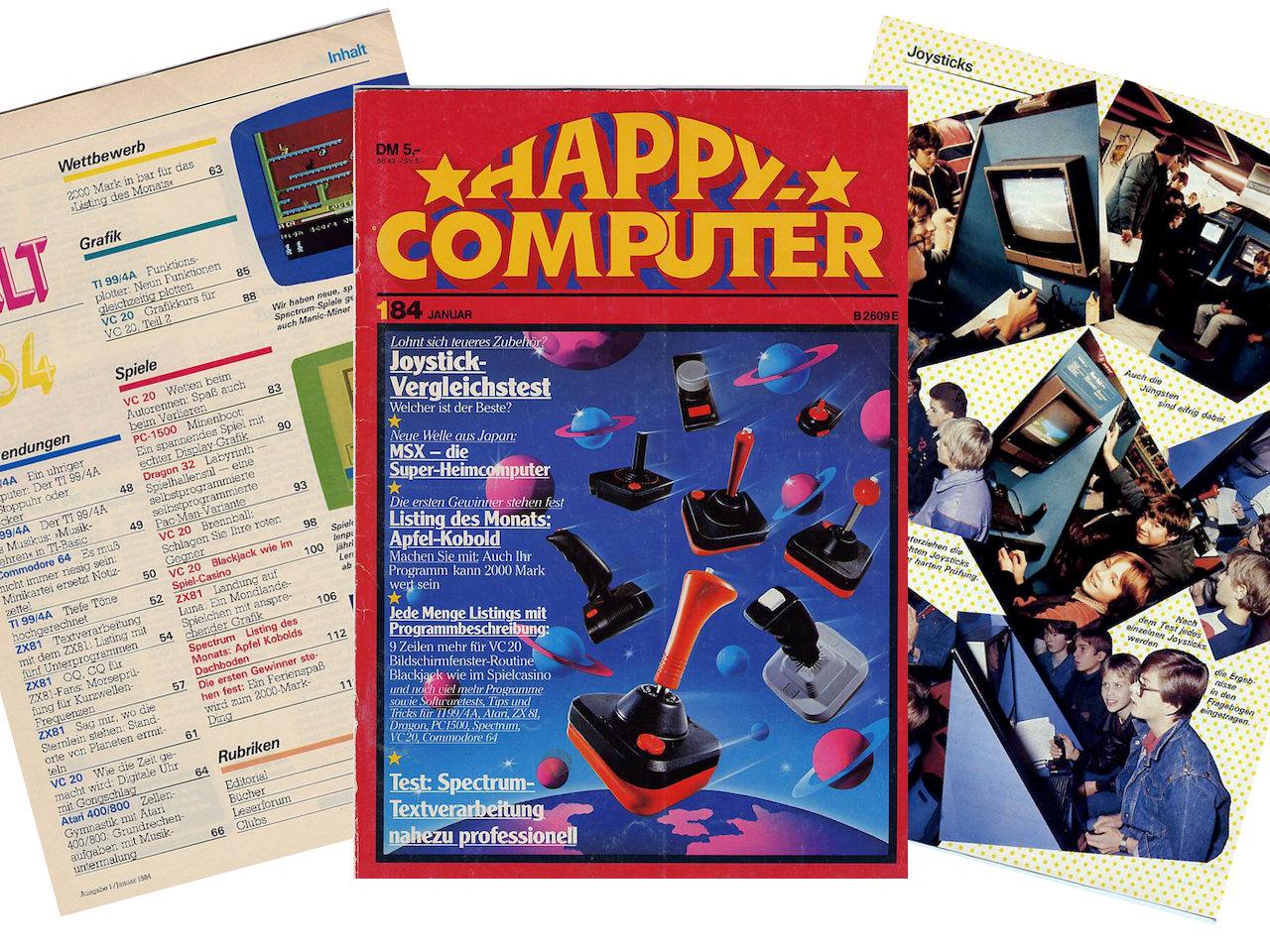 Die Happy Computer erschien insgesamt 76 mal. (Bild: André Eymann)