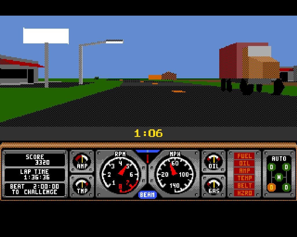 Hard Drivin'. (Atari, 1989)