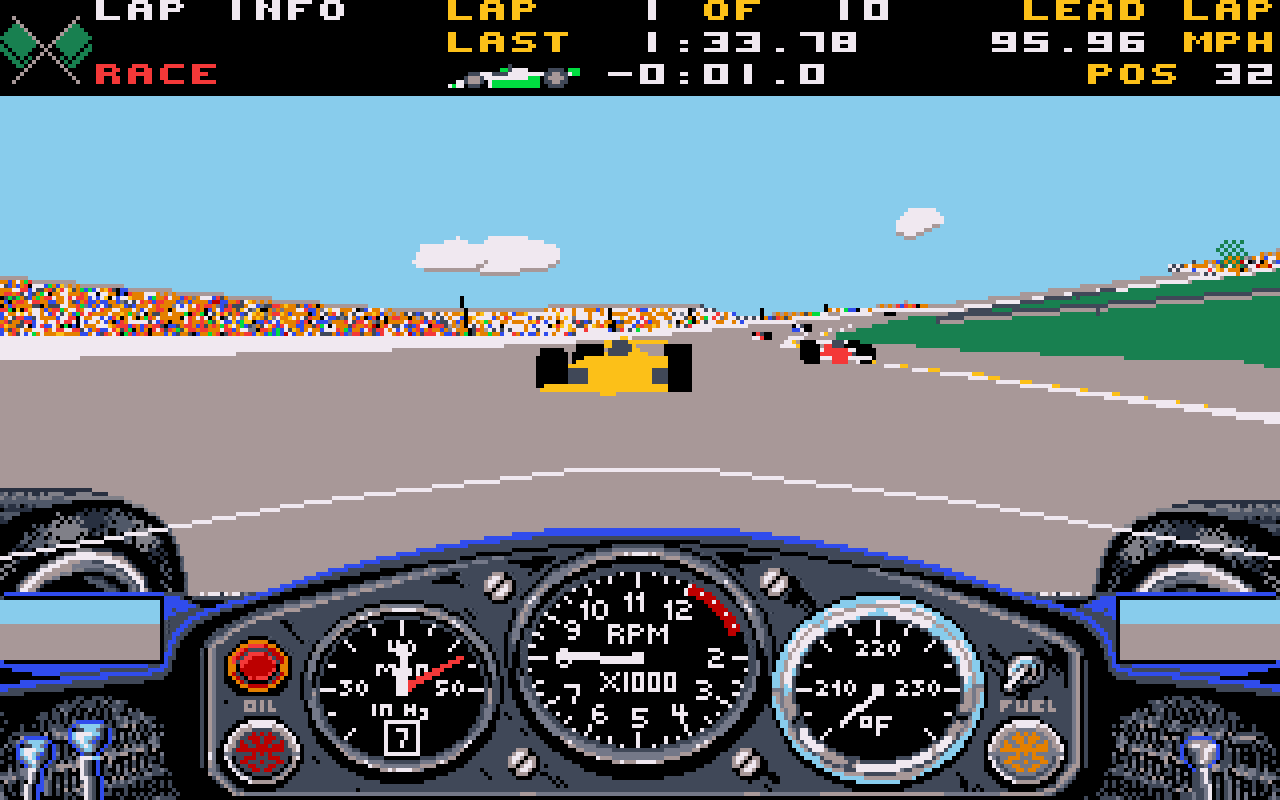 Indianapolis 500: The Simulation. (Papyrus Design Group, 1989)