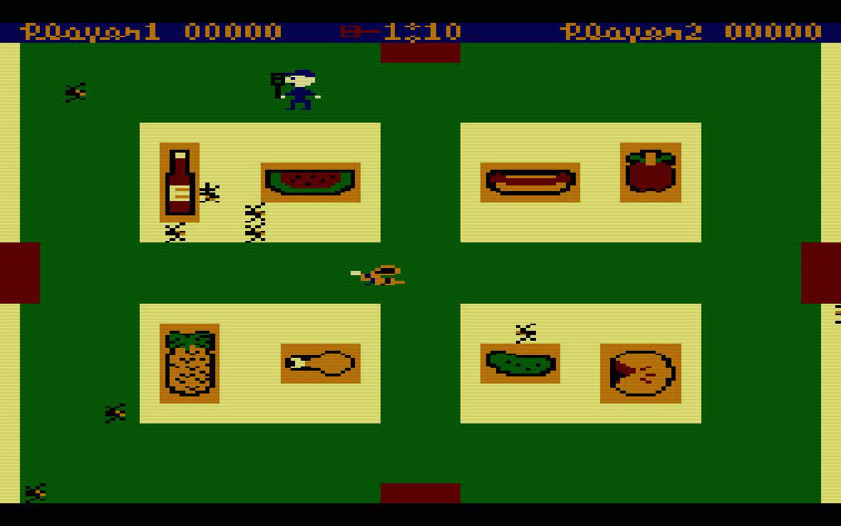 Picnic Paranoia von Synapse. Angriff der Insekten in vollem Gange. (Bild: Atari)