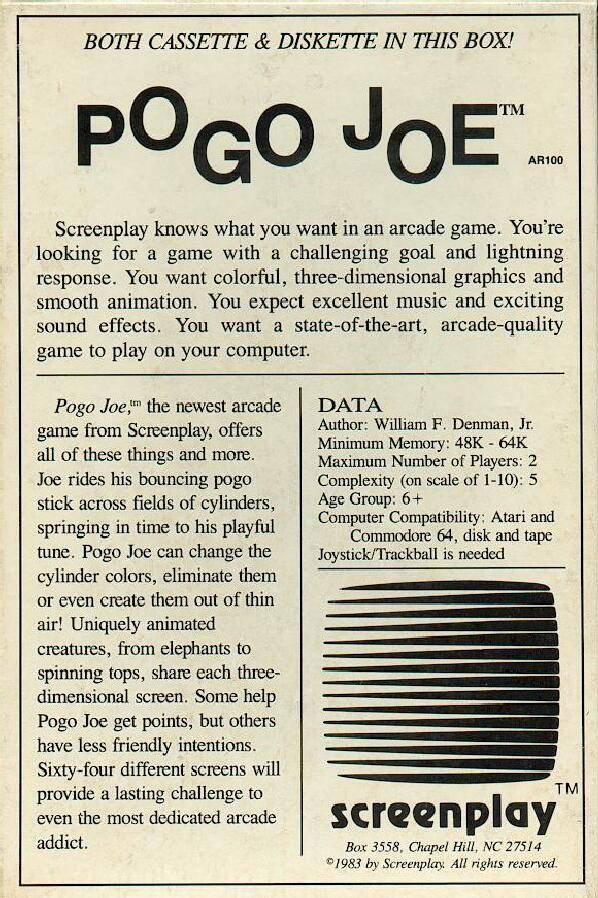 ...sowie die Rückseite der US-Version von Pogo Joe. (Bild: Screenplay)