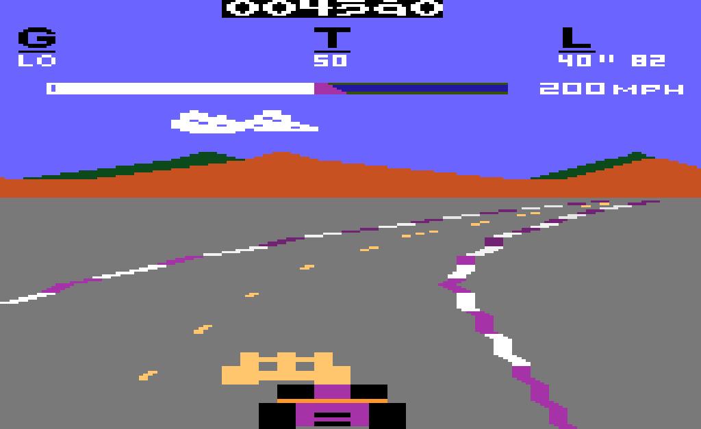 Programmkassette Pole Position für das Atari VCS. (1982)