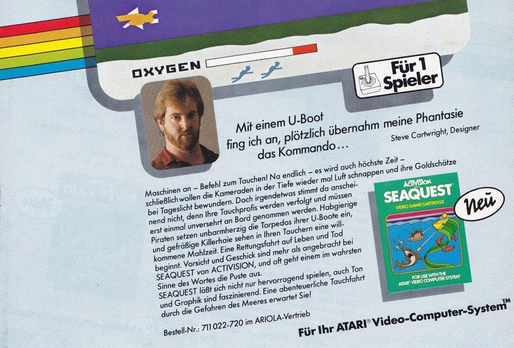 Typisch Activision: ein Foto und persönlich Zeilen des Entwicklers zum Spiel waren ein Markenzeichen des Spieleherstellers aus Kalifornien. (Bild: Activision)