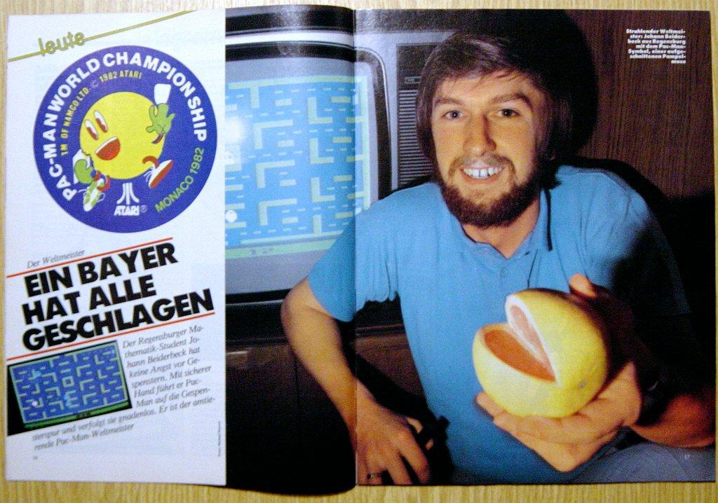 Ein tele action-Bericht zur Pac-Man Weltmeisterschaft. (Bild: Ehapa-Verlag)