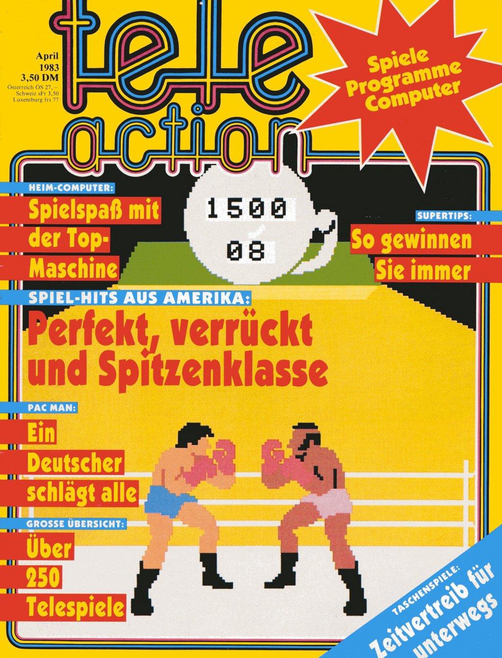 Das Cover der Erstausgabe der tele action, April 1983. (Bild: Ehapa-Verlag)
