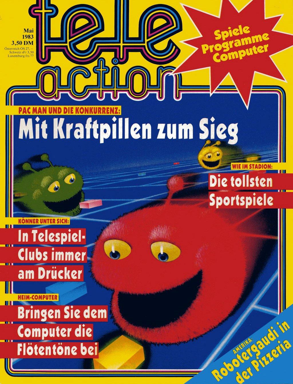 Das Cover der Zweitausgabe der tele action, Mai 1983. (Bild: Ehapa-Verlag)