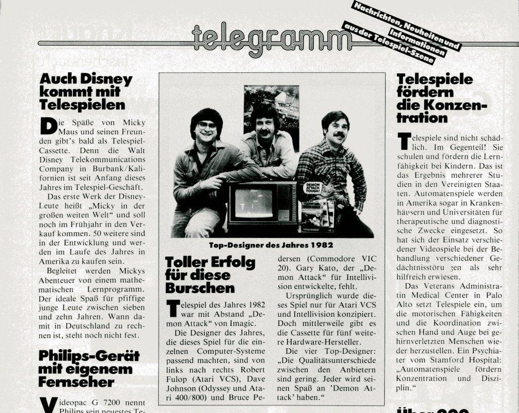 News aus der Szene und Informationen über neue Geräte aus der Erstausgabe der tele action. (Bild: Ehapa-Verlag)