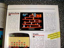 """""""Aufpassen wenn Donkey Kong mit Fässern wirft."""" Test des Spiels für das ColecoVision. (Bild: Ehapa-Verlag)"""