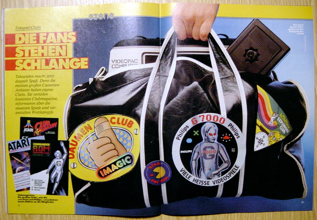 """""""Der neue Sport."""" Bericht über Telespiel-Clubs im Magazin. (Bild: Ehapa-Verlag)"""
