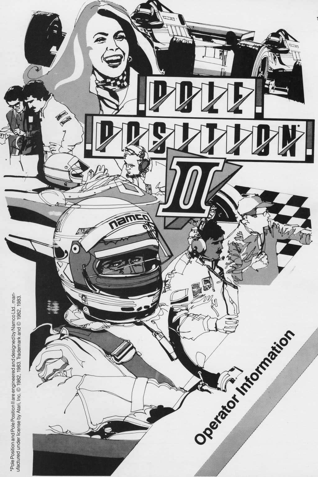 Werbung von Pole Position. (Atari, 1983)