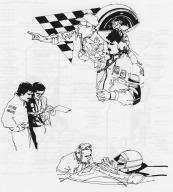 Szenen eines Rennfahrerlebens. (Artwork zu Pole Position, 1982)