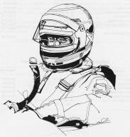 Rennfahrer sind knallharte Kerle. (Artwork zu Pole Position, 1982)