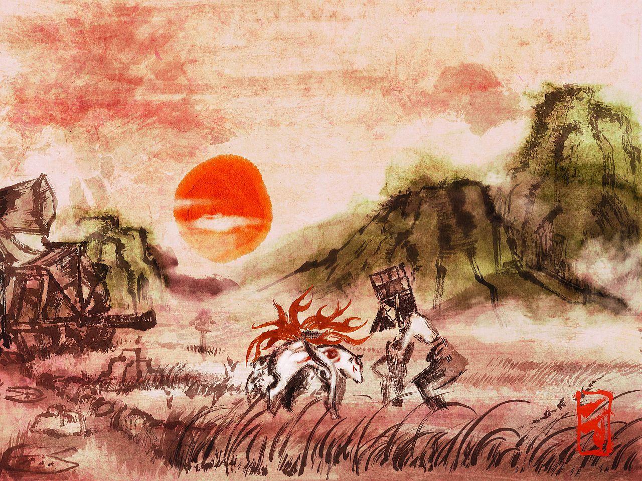 Okami (Quelle: Cloverstudios Okami Official Complete Works)