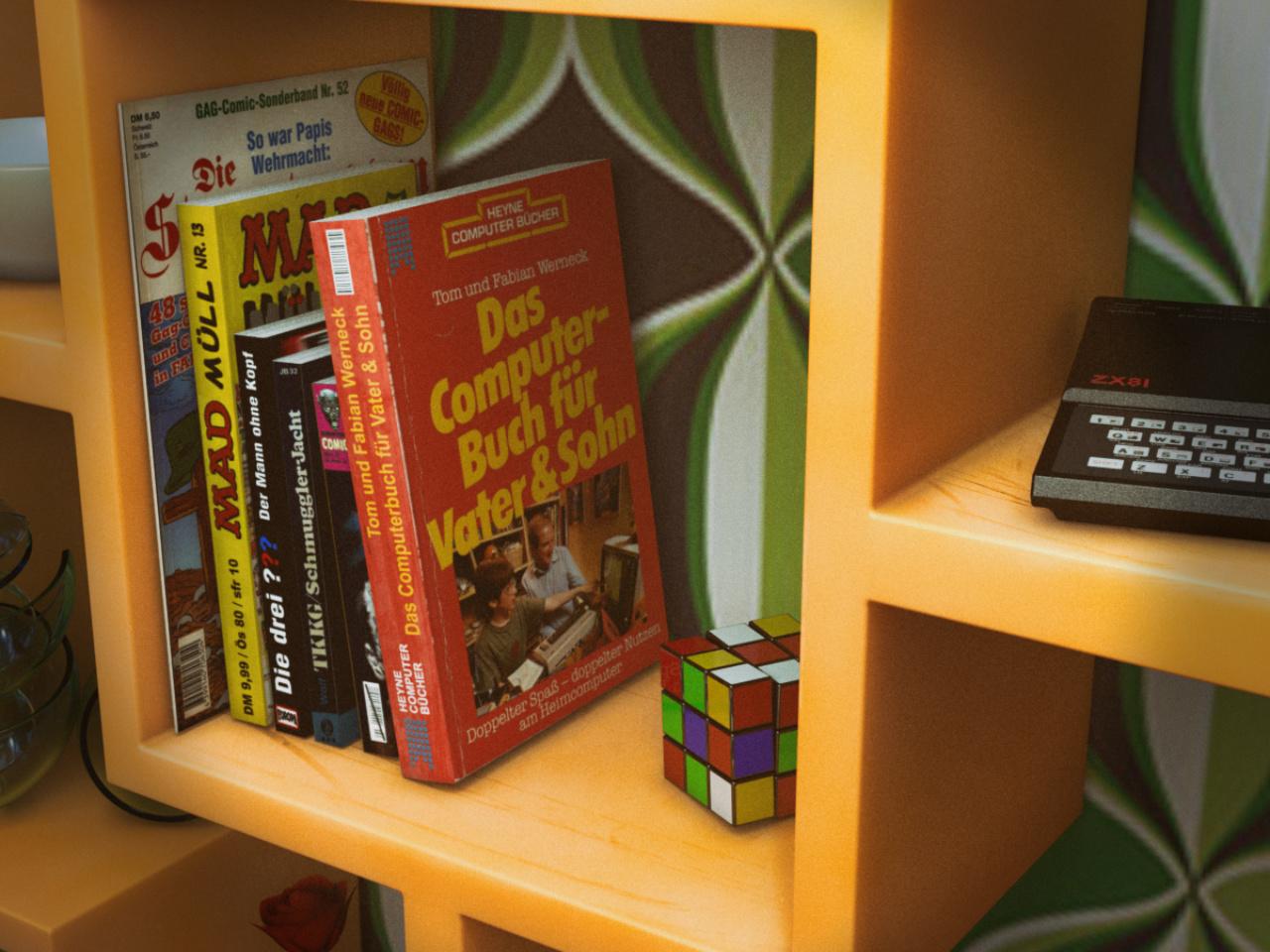 """Das """"Computerbuch für Vater & Sohn"""" erschien im Heyne Verlag. (Bild: René Achter)"""
