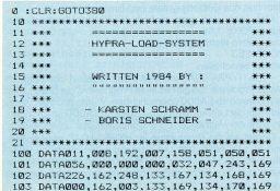 Schnellader für den C64: Hypra-Load erscheint als Listing des Monats in der 64er-Ausgabe 10/1984. (Bild: Markt & Technik)