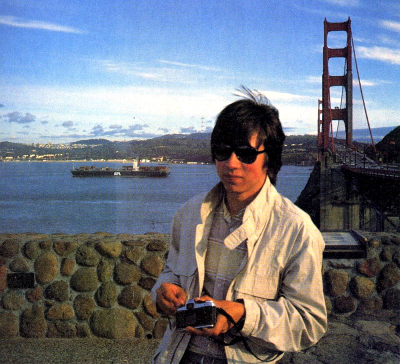 Boris Schneider 1988 an der Golden Gate Bridge. (Bild: Boris Schneider-Johne)