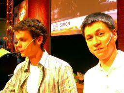 Boris und Giga-Moderator Michael Neudert auf der Games Convention 2005. (Bild: Boris Schneider-Johne)